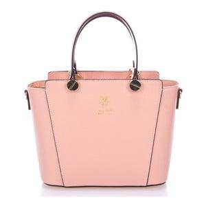 Ružová kožená kabelka Giulia Massari Mela