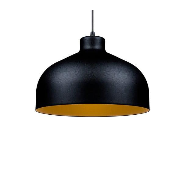 Čierno-zlaté stropné svetlo Loft You B&B, 22 cm