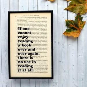 Plagát v drevenom ráme Oscar Wilde Reading