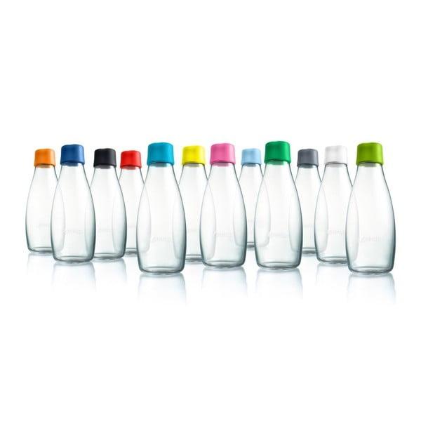 Svetlomodrá sklenená fľaša ReTap s doživotnou zárukou, 300ml