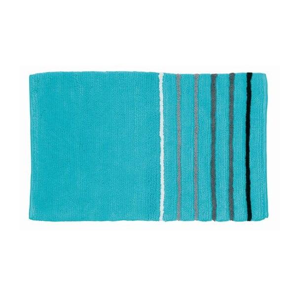 Kúpeľňová podložka Ladessa, modrý prúžok, 80x50 cm
