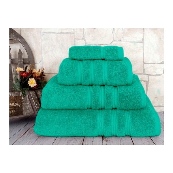 Zelený uterák z česanej bavlny Irya Home Classic, 50×90 cm