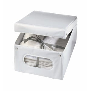 Biely úložný box Ordinett Top Class, 36x48 x 19cm