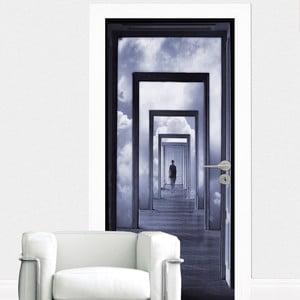 Samolepka na dvere Step Into Clouds