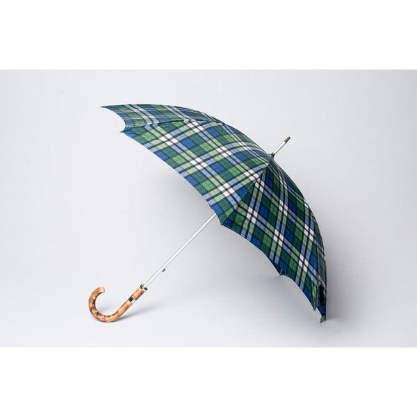 Dáždnik Tartan, modrý
