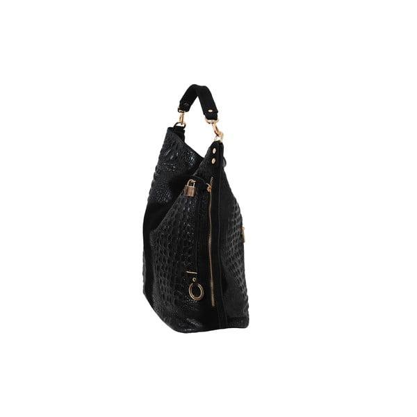 Čierna kabelka z pravej kože Andrea Cardone Edvige