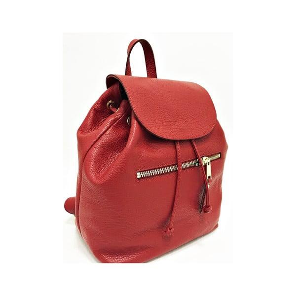 Kožený batoh Era Red