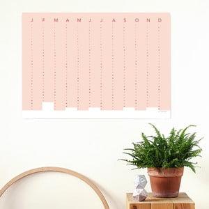 Nástenný kalendár SNUG.Column 2017, ružový