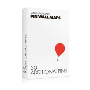 Náhradné špendlíky pre Pin World mapy, 30 ks