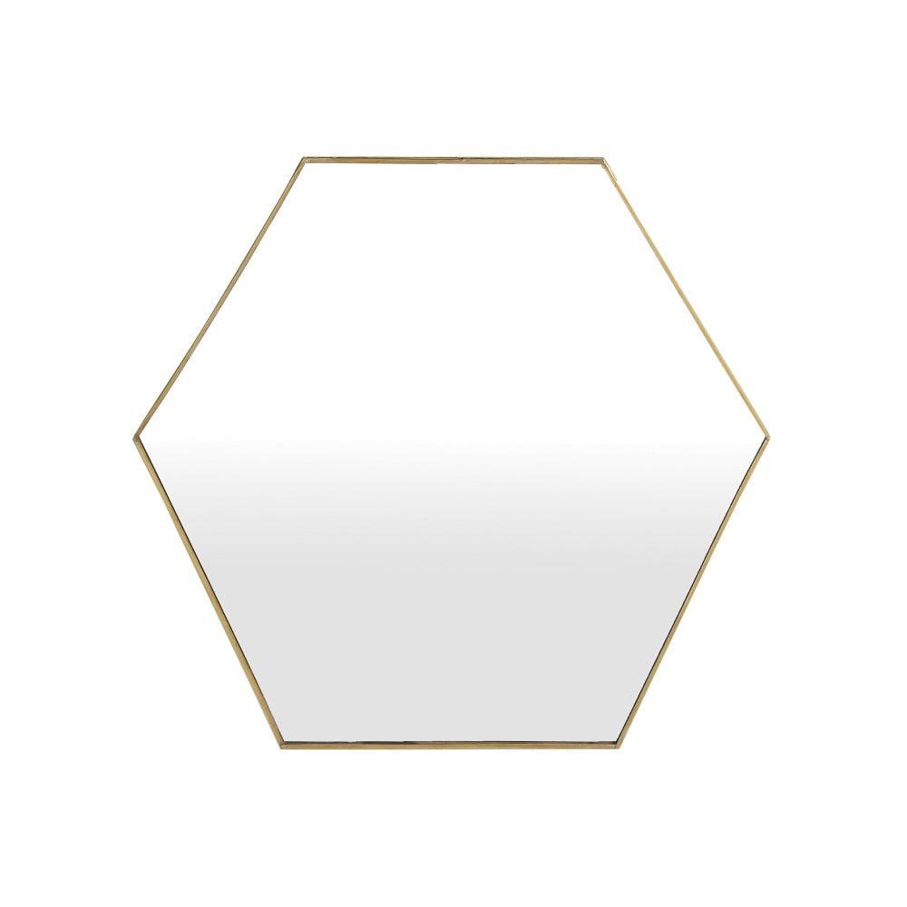 Geometrické zrkadlo A Simple Mess Liva, 51 × 44 cm