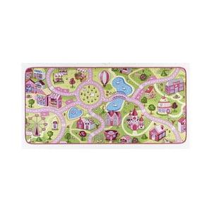 Detský koberec s ružovými detailmi Hanse Home City, 160×240 cm