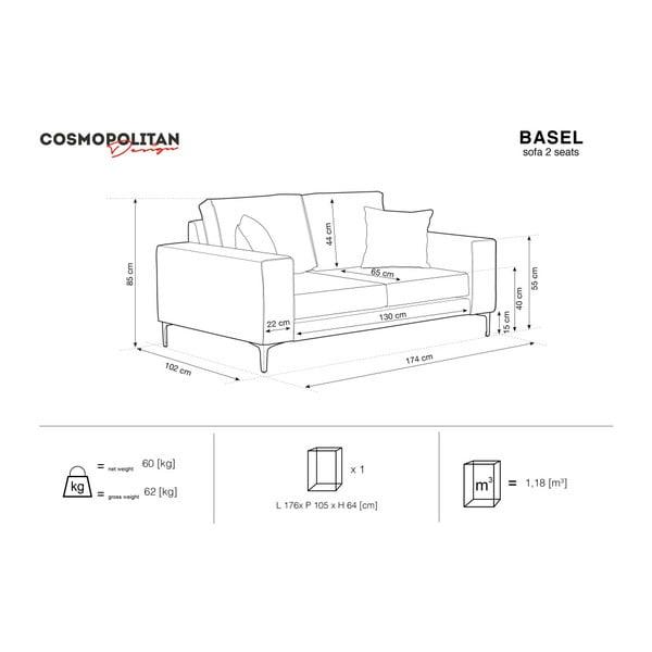 Béžová dvojmiestna pohovka Cosmopolitan Design Basel
