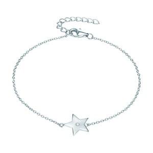 Strieborný náramok s pravým diamantom Tess Diamonds Jolie