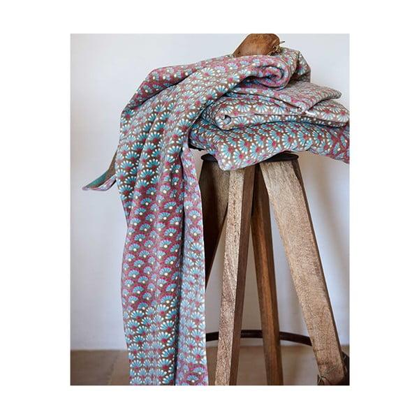 Osuška Blooming Tails Khaki, 55x100 cm