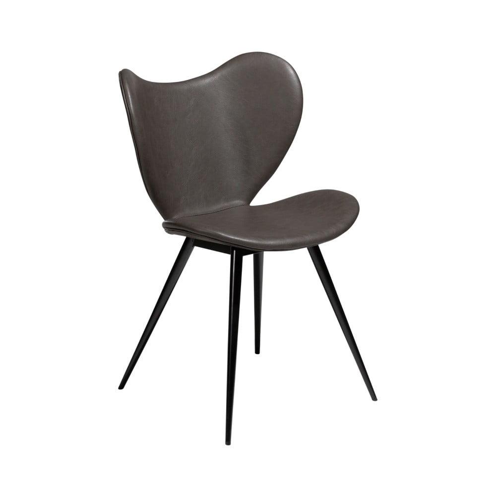 Tmavosivá jedálenská stolička z eko kože DAN–FORM Denmark Dreamer