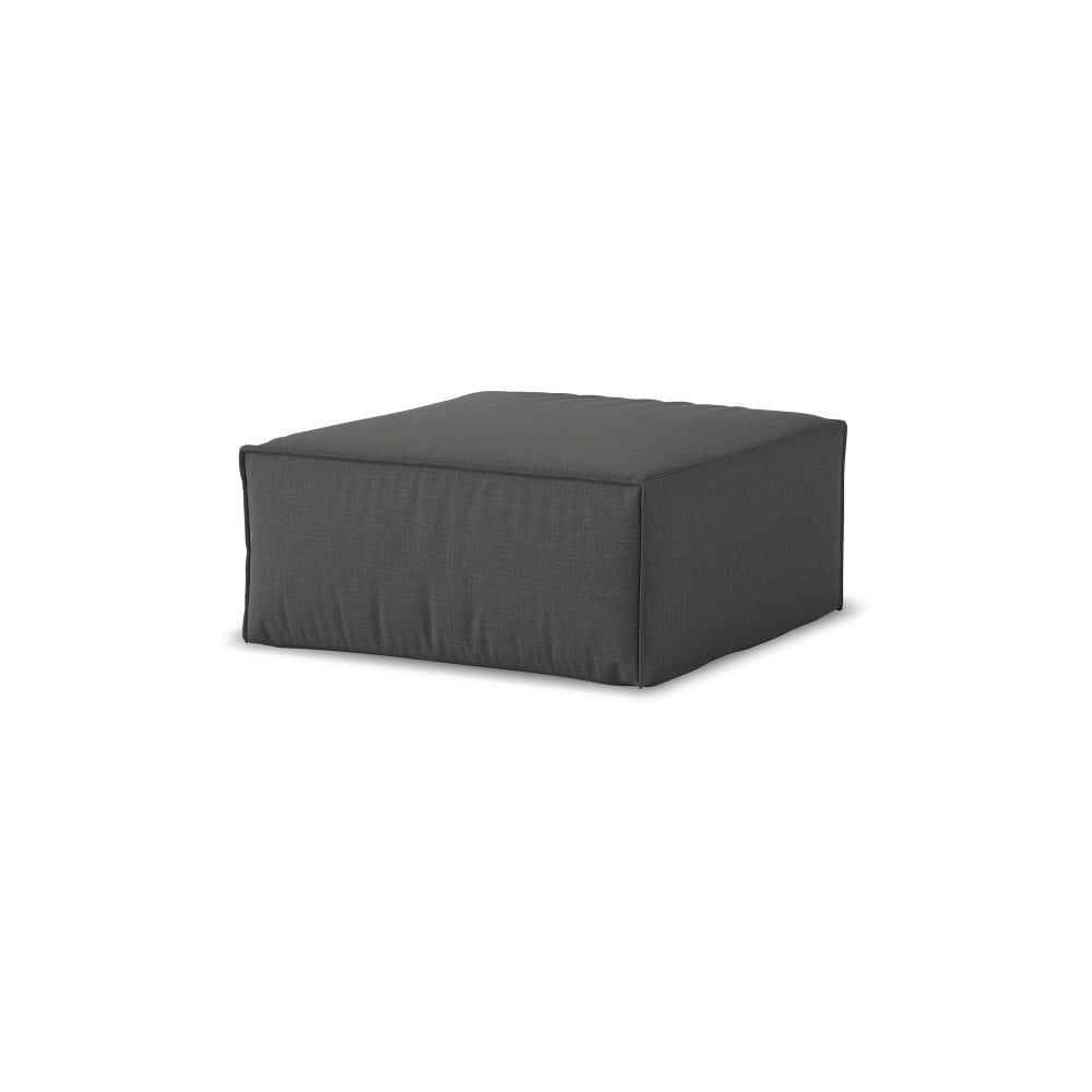 Tmavosivý puf Cosmopolitan Design Miami, 65 × 65 cm