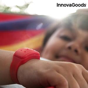 Červený repelentný náramok proti komárom s vôňou citronely InnovaGoods
