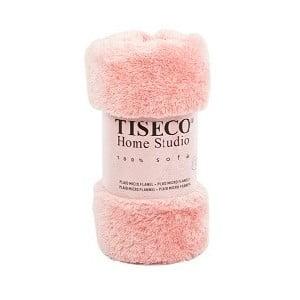Ružový pléd Tiseco Home Studio Fluffy, 150 × 200 cm