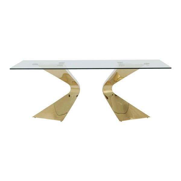 Jedálenský stôl s nohami v zlatej farbe Kare Design Gloria