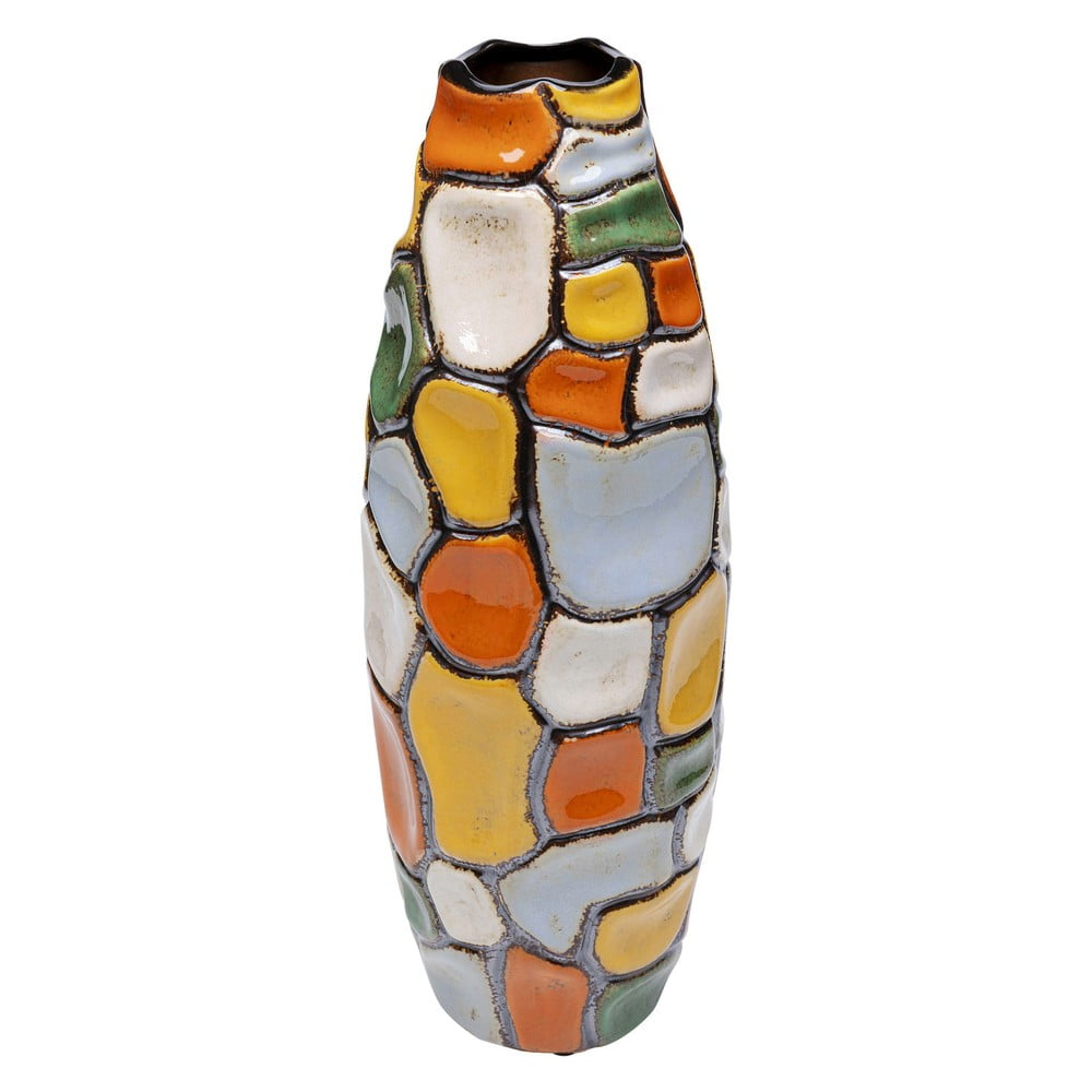 Farebná kameninová váza Kare Design Jolly Spots, výška 41 cm