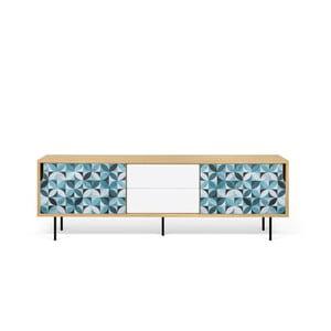 TV stolík z dubového dreva s kovovými nohami TemaHome Dann Morocco