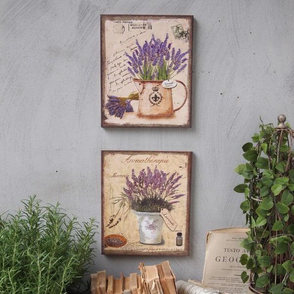 Nástenná dekorácia Lavenders, 2 ks