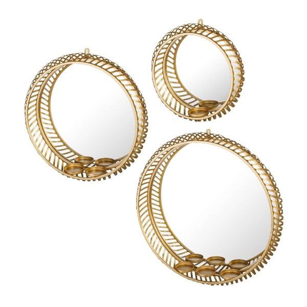 Sada 3 zrkadiel Arabian Gold