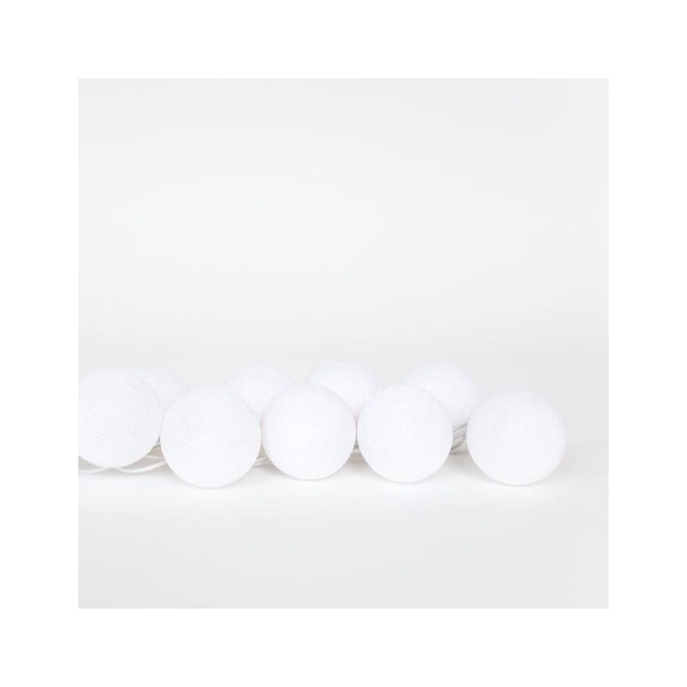 Svetelná reťaz Happy Lights Snowball, 35 guľôčok