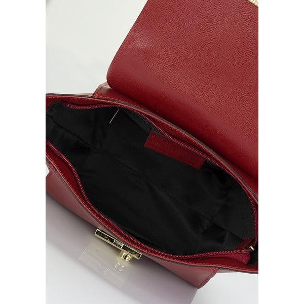 Vínová kožená kabelka Lisa Minardi Saffiano