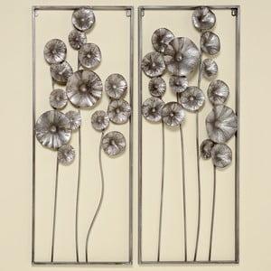 Sada 2 železných nástenných dekorácií Boltze Flower