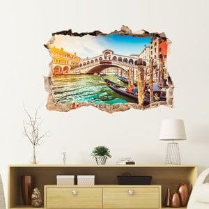 3D samolepka na stenu Ambiance vnice the Rialto Bridge