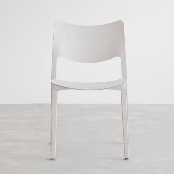 Stolička z bieleného jaseňového dreva Stua Laclasica
