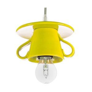 Žlté keramické stropné svietidlo Creative Lightings Coffee Time Darling