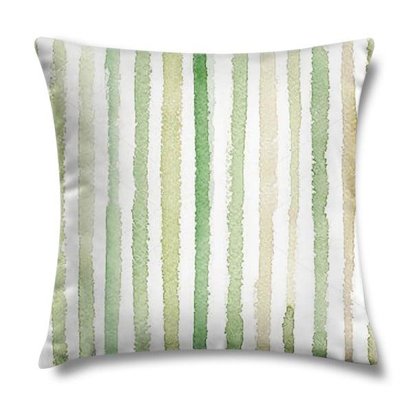Vankúš Natural Green Stripes, 43x43 cm