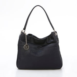 Kožená kabelka Alessandro, tmavo modrá