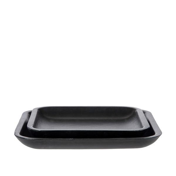 Sada 2 podnosov Plate Black, 25 cm