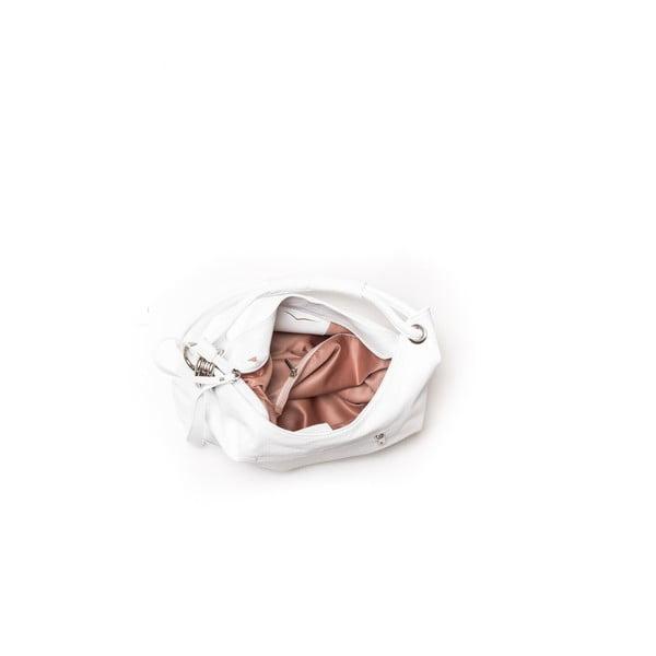 Kožená kabelka Carla Ferreri 1022 Bianco