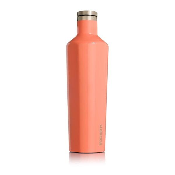 Oranžová cestovná termofľaša Corkcicle Canteen, 740 ml