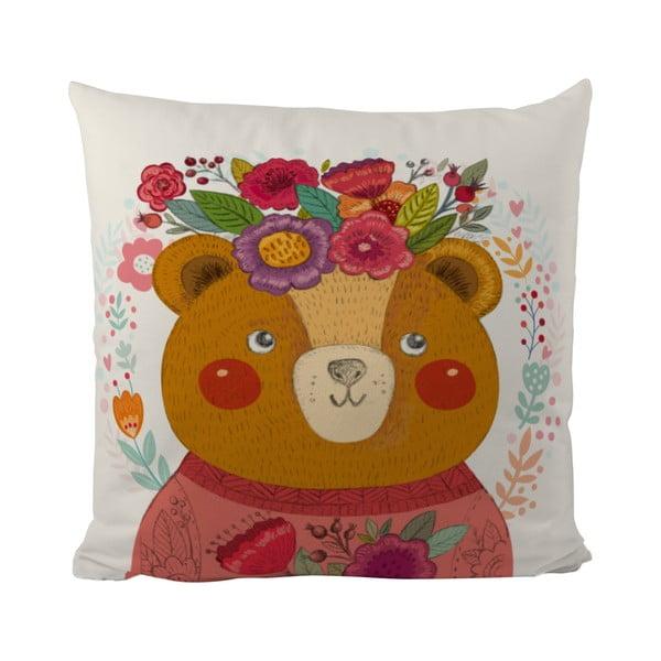 Vankúš Flower Bear, 50x50 cm