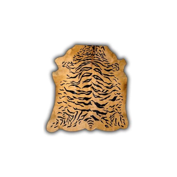 Kožená predložka Normand Cow Tiger, 170x190 cm