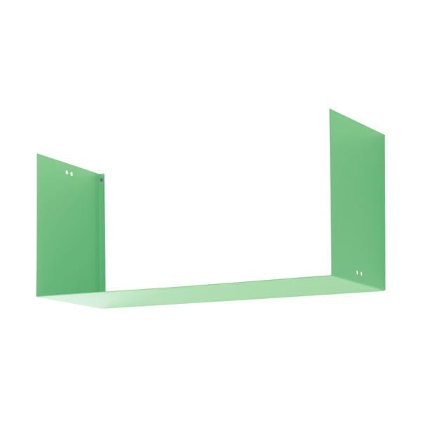 Nástenná polica Geometric Three, zelená