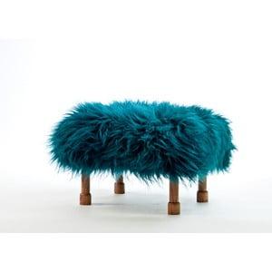 Stolička z ovčej kože Delyth Teal