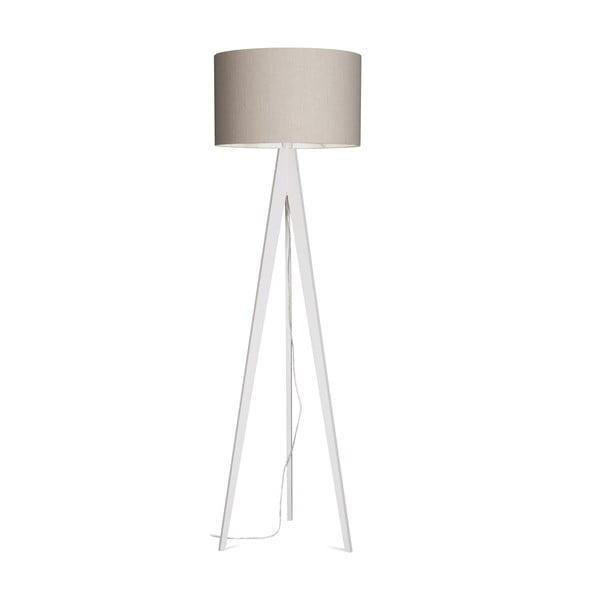 Stojacia lampa Artist Grey Linnen/White, 125x42 cm