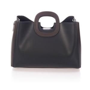 Čierna kožená kabelka Markese Sidony