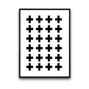 Plagát v drevenom ráme Cross, 38x28cm