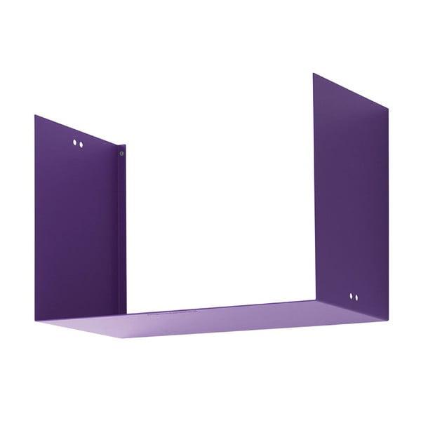Nástenná polica Geometric Two, fialová
