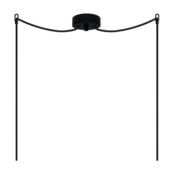 Čierne dvojité stropné svietidlo Sotto Luce AWA Elementary 2S Glossy