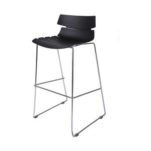 Barová stolička D2 Techno, čierna