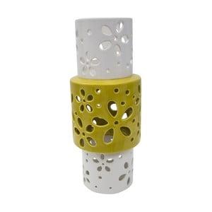 Žlto-biela porcelánová váza Mauro Ferretti Ring