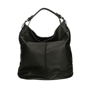 Čierna kožená kabelka Roberto Buono Diana